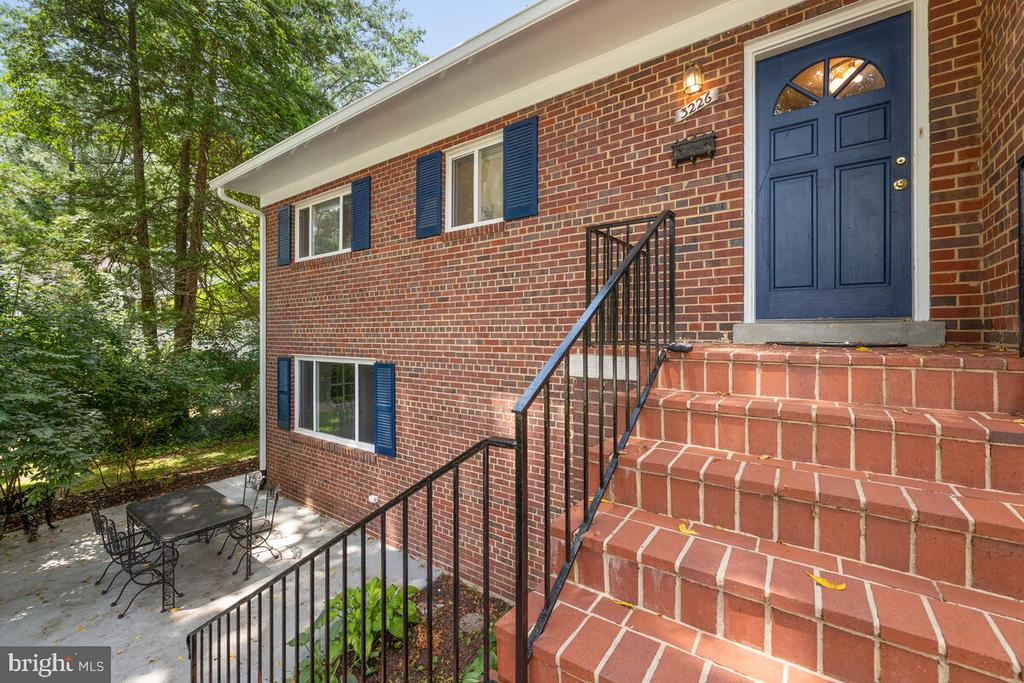 Stairewell Entrance & Front Patio - 3226 SLEEPY HOLLOW RD, FALLS CHURCH