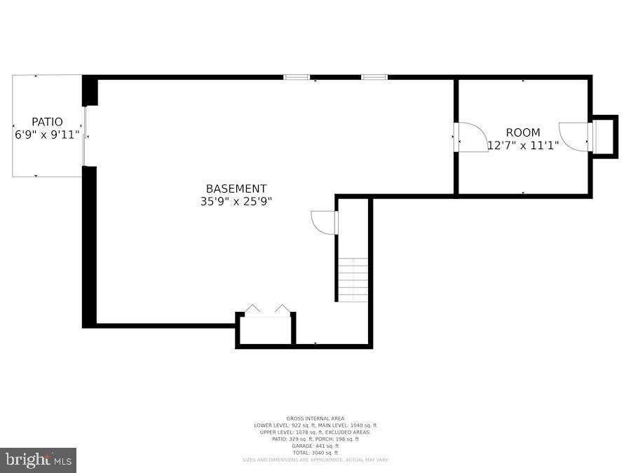 Floor Plan - Lower Level - 205 SAIL CV, STAFFORD