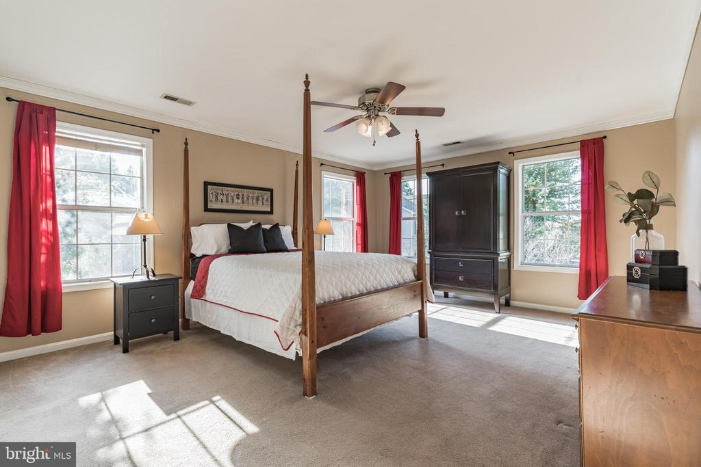 Spacious upper level owner's bedroom - 14 JUSTIN CT, STAFFORD