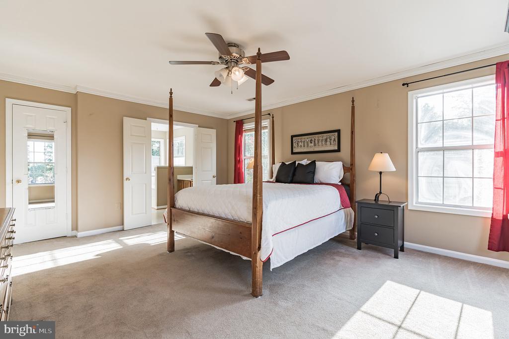 Large owner's bedroom - 14 JUSTIN CT, STAFFORD