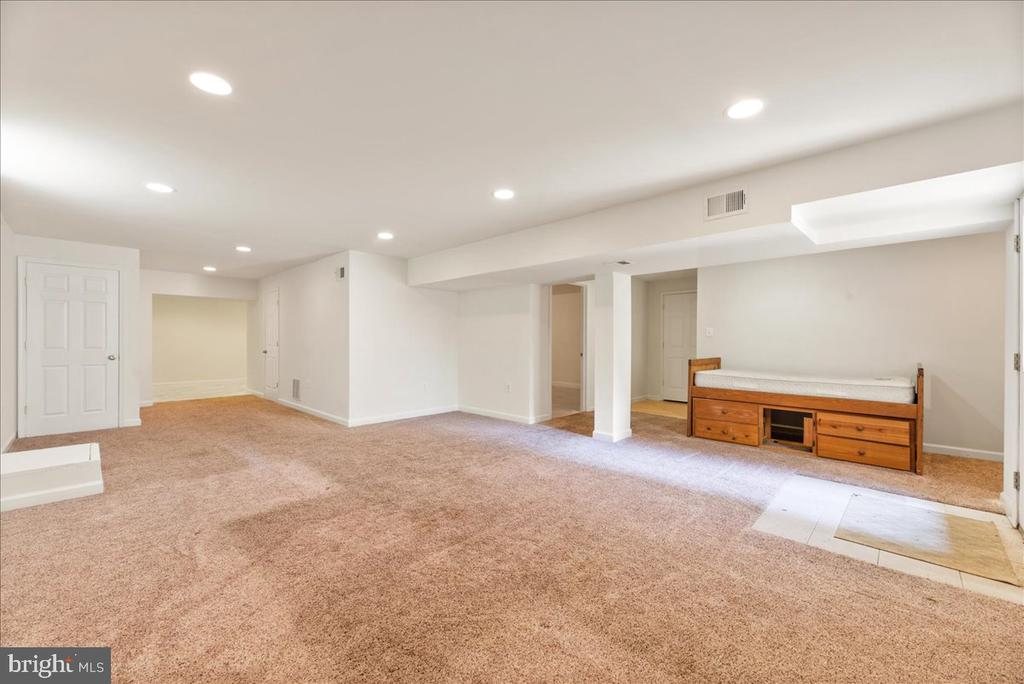 Large open room in basement - 17510 LETHRIDGE CIR, ROUND HILL