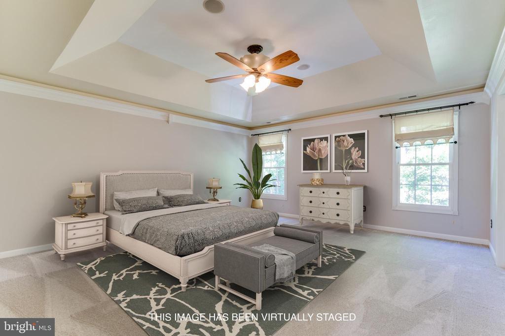Virtually staged Master Bedroom. - 12113 SAWHILL BLVD, SPOTSYLVANIA