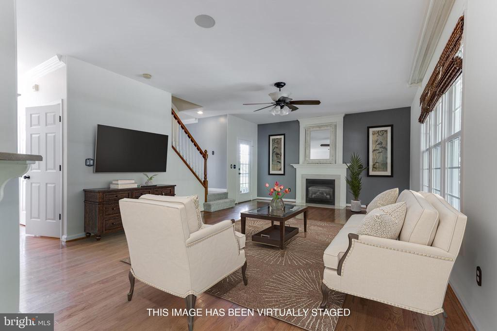 Virtually staged Family Room. - 12113 SAWHILL BLVD, SPOTSYLVANIA