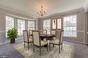 Spacious formal dining room - 6 LEE CT, STAFFORD