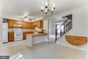 Open kitchen/dining room - 3594 WHARF LN, TRIANGLE