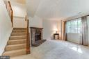 Wood burning fireplace and  picture window - 3594 WHARF LN, TRIANGLE