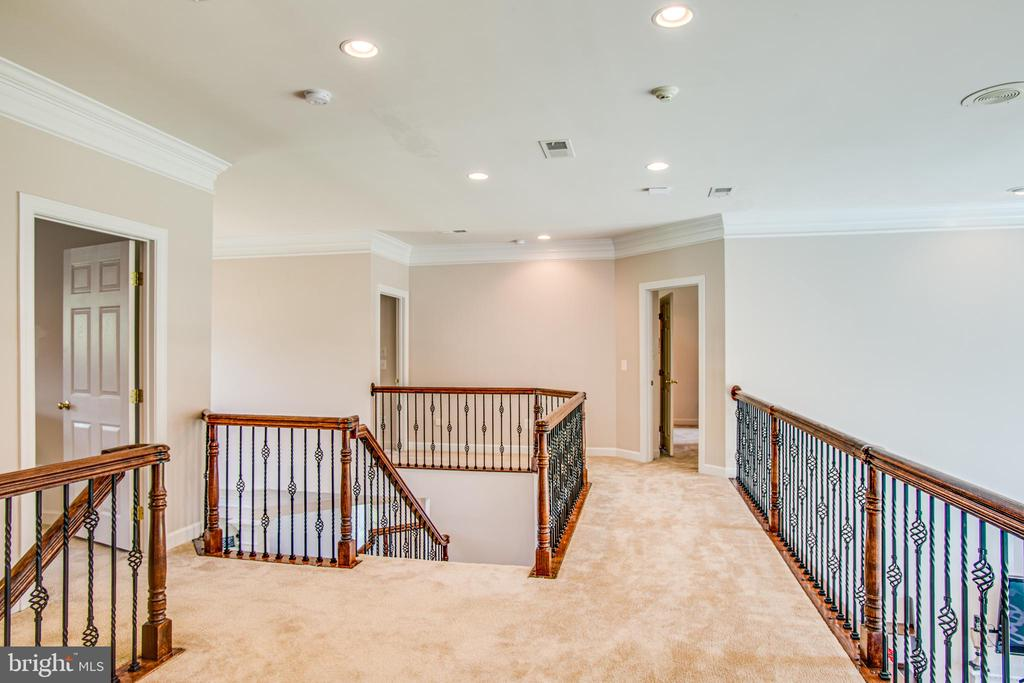 Upper level hall open to below - 57 SNAPDRAGON DR, STAFFORD