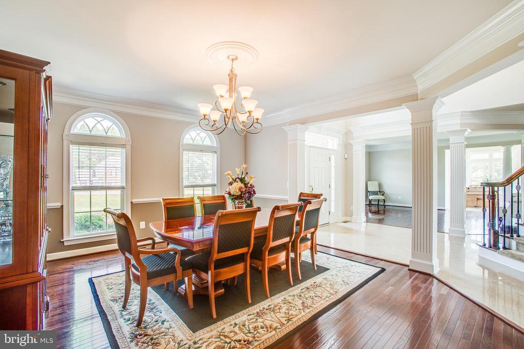 Formal dining room with hardwood flooring - 57 SNAPDRAGON DR, STAFFORD