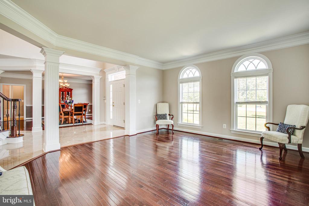Formal living room with hardwood flooring - 57 SNAPDRAGON DR, STAFFORD
