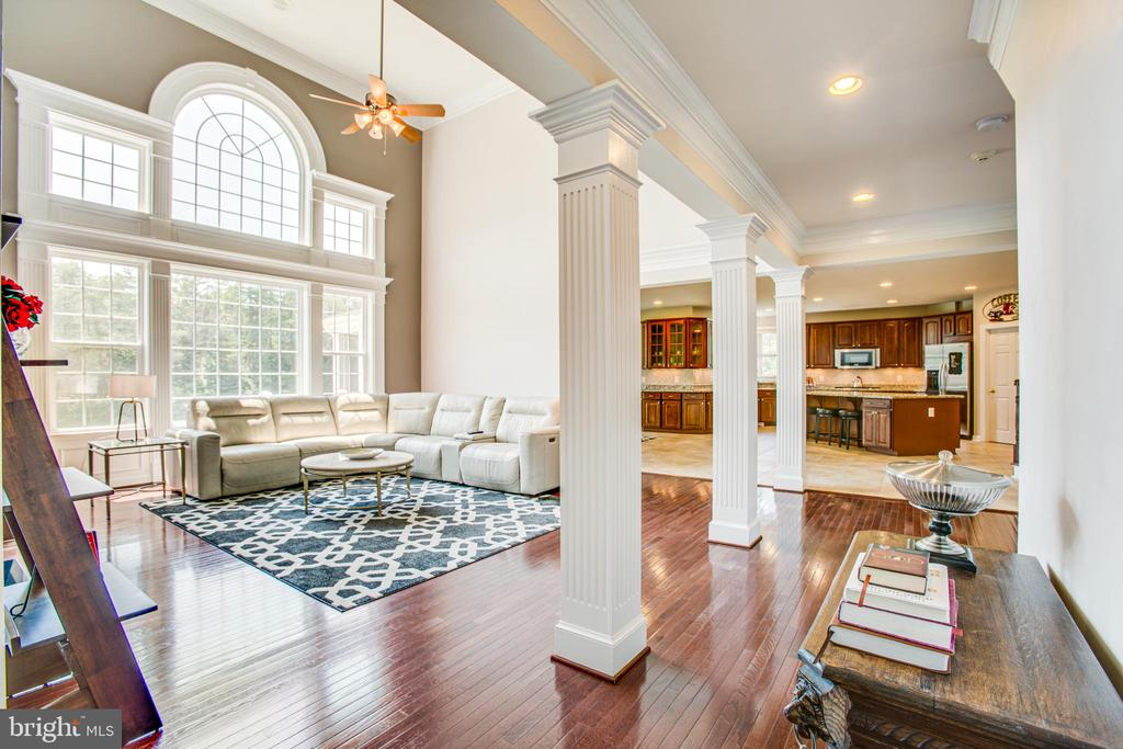 2 story great room with floor to ceiling windows! - 57 SNAPDRAGON DR, STAFFORD