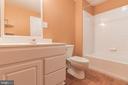 Lower level full bath - 135 BRUSH EVERARD CT, STAFFORD