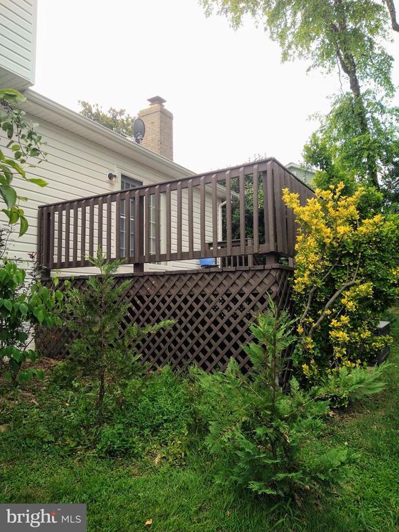 Deck from Backyard - 13600 BRIDGELAND LN, CLIFTON