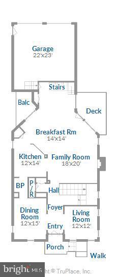 Main level floor plan - 17451 LETHRIDGE CIR, ROUND HILL