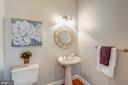 main level 1/2 bath - 22606 HILLSIDE CIR, LEESBURG