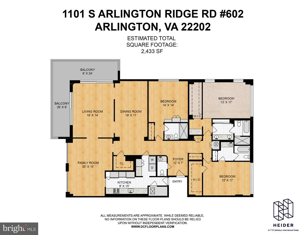 Floor Plans - 1101 S ARLINGTON RIDGE RD #602, ARLINGTON