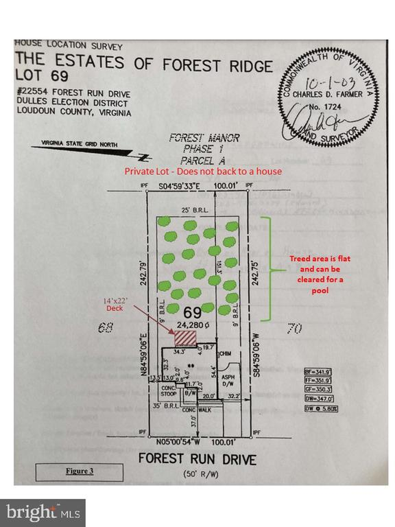 Huge 1/2 acre lot with Mature Trees - 22554 FOREST RUN DR, ASHBURN