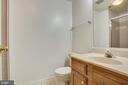 Primary bathroom for your privacy and convenience - 12236 LADYMEADE CT #5-201, WOODBRIDGE