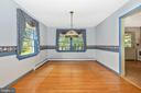 Dining room opens to the kitchen - 703 WYNGATE DR, FREDERICK