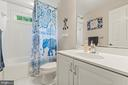 Full bathroom upstairs off of bedroom 2 - 55 AZTEC DR, STAFFORD