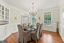 Built in china cabinet and custom wainscoting - 55 AZTEC DR, STAFFORD