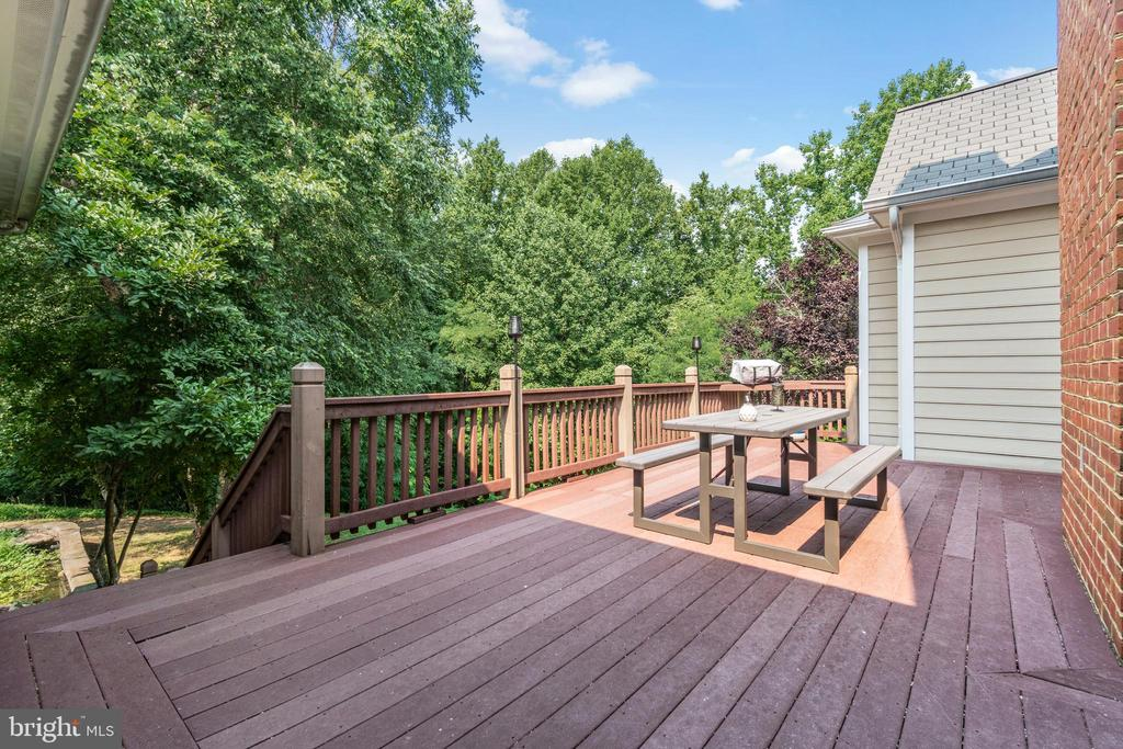 Treks deck off of the family room - 55 AZTEC DR, STAFFORD