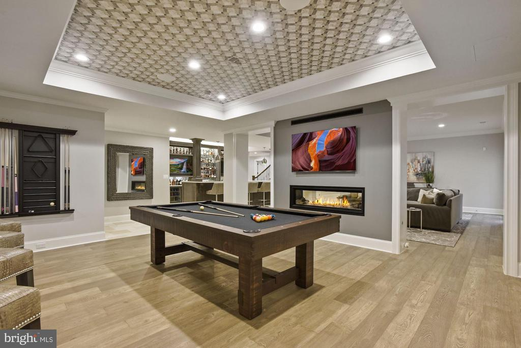 Game Room with Double Sided Gas Fireplace - 22436 MADISON HILL PL, LEESBURG