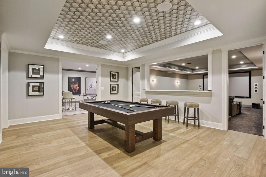 Game Room Opens Up to the Media Room - 22436 MADISON HILL PL, LEESBURG