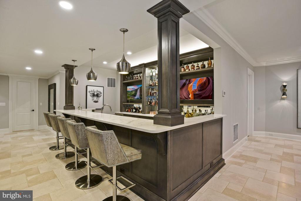 15' Bar with Quartz Counters - 22436 MADISON HILL PL, LEESBURG