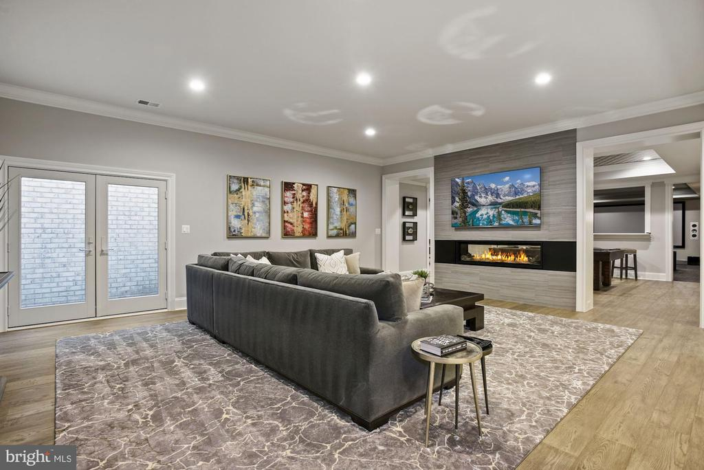 Rec Room with Double Sided Gas Fireplace - 22436 MADISON HILL PL, LEESBURG