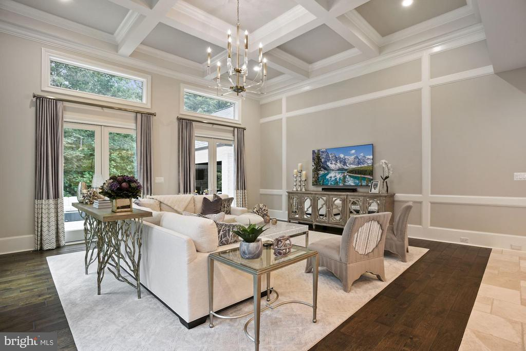 Exquisite Great Room with Coffered Ceiling - 22436 MADISON HILL PL, LEESBURG