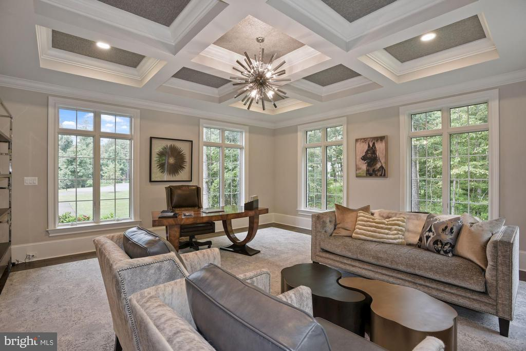 2nd Home Office with Chic Coffered Ceilingc - 22436 MADISON HILL PL, LEESBURG