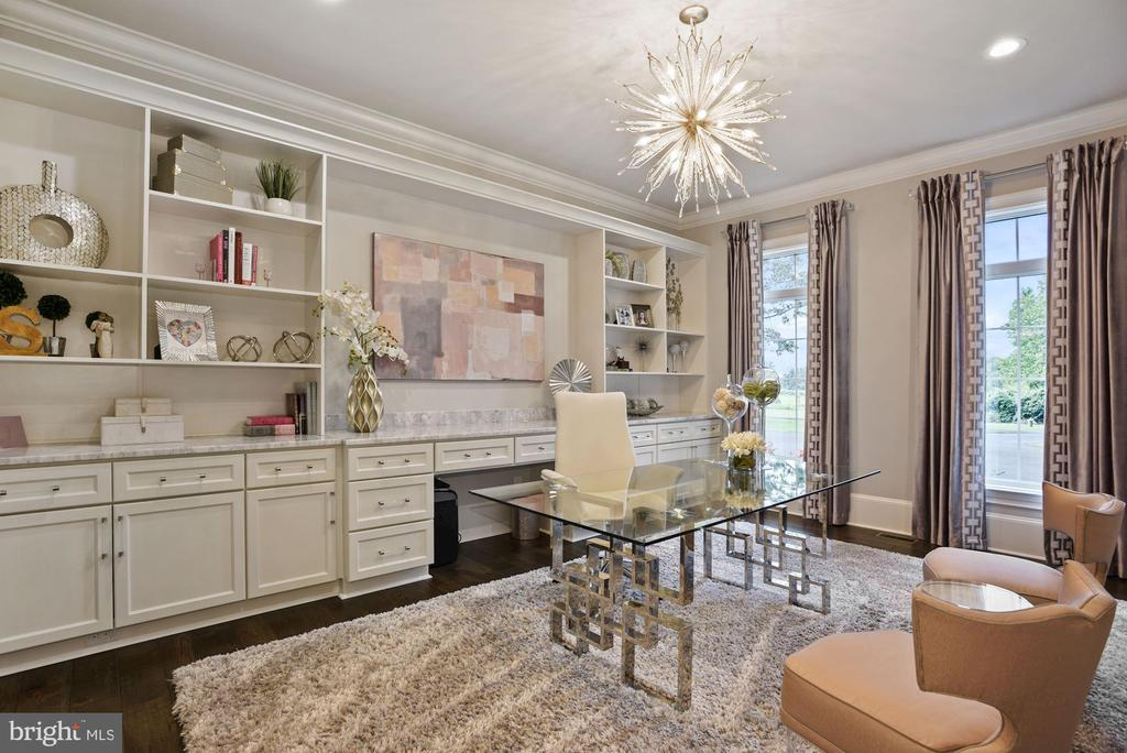 Home Office with Built In Shelving and Marble Desk - 22436 MADISON HILL PL, LEESBURG