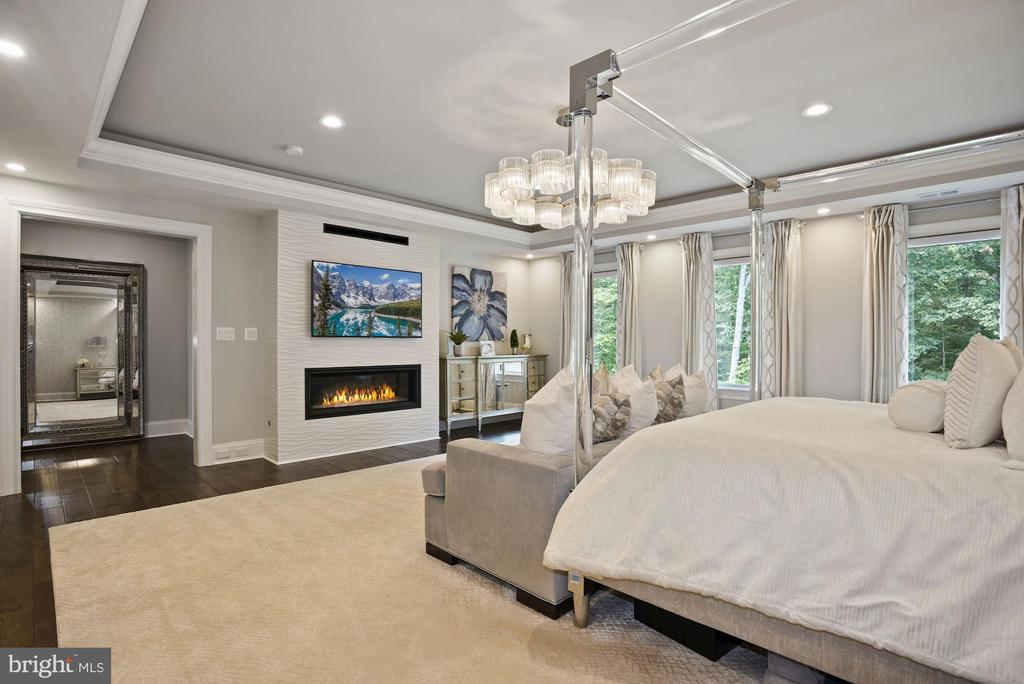Owner's Bedroom with Gas Fireplace - 22436 MADISON HILL PL, LEESBURG