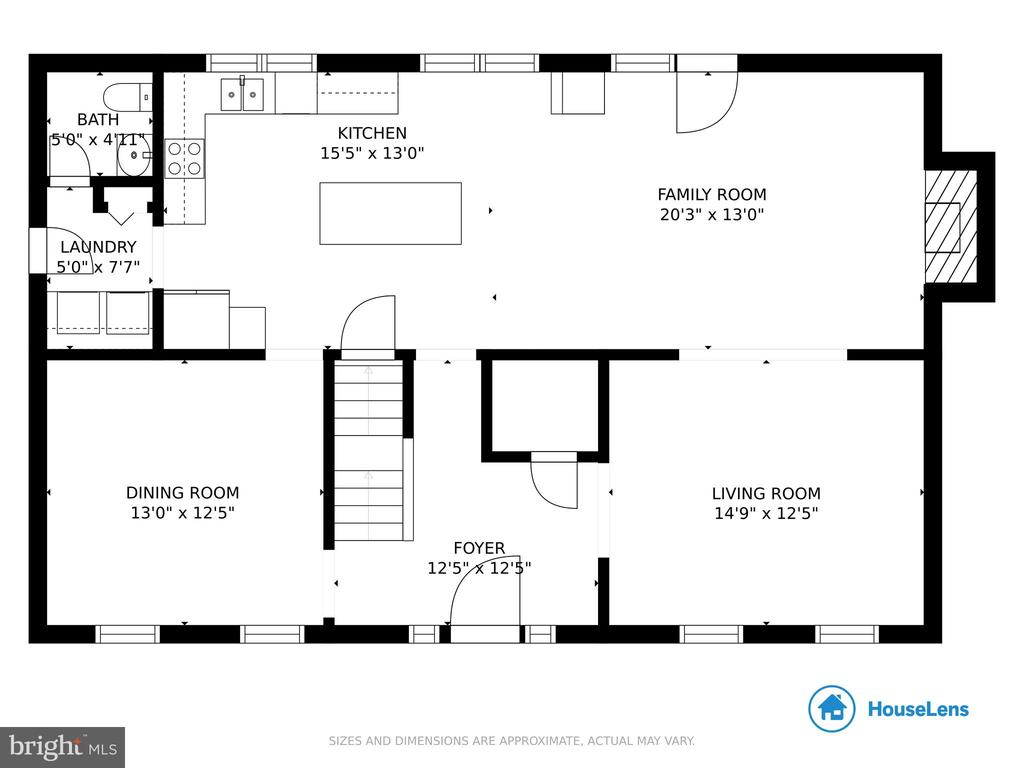 Main Level Floor Plan - 4821 REGIMENT CT, WOODBRIDGE