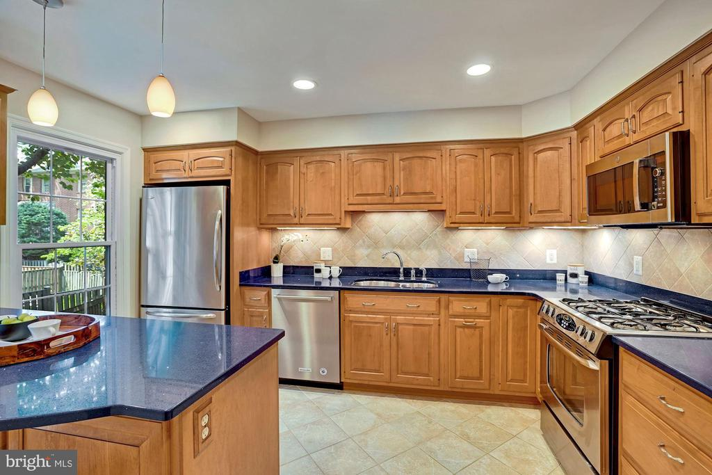 Every appliance is stainless steel! Gas Cooking! - 10133 VILLAGE KNOLLS CT, OAKTON