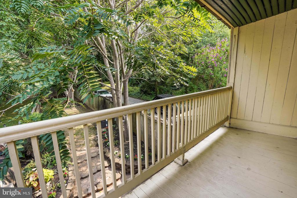 Balcony overlooking Private Oasis - 21 E SOUTH ST, FREDERICK