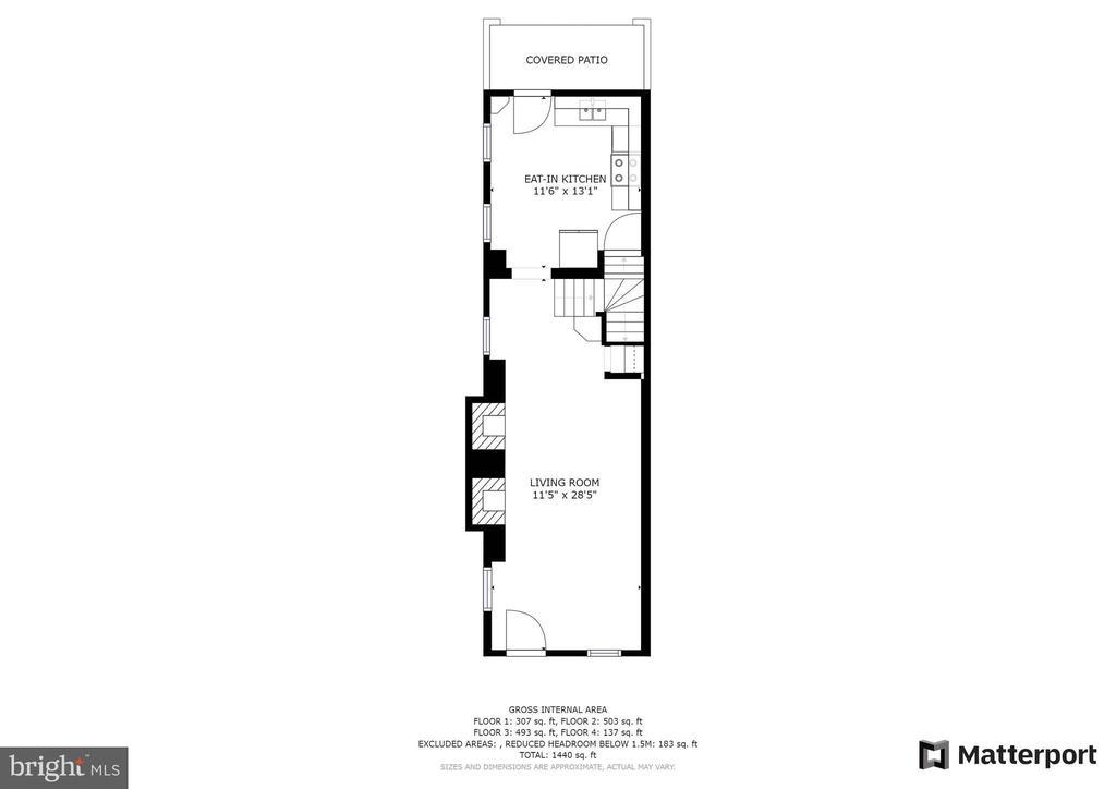 Living Room Kitchen - 21 E SOUTH ST, FREDERICK