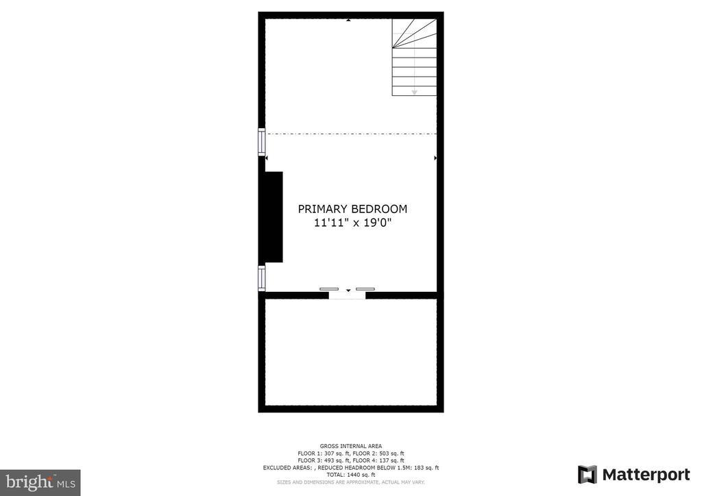 Upper Level 2 w/ 3rd Bdrm/Closet w/barn doors - 21 E SOUTH ST, FREDERICK