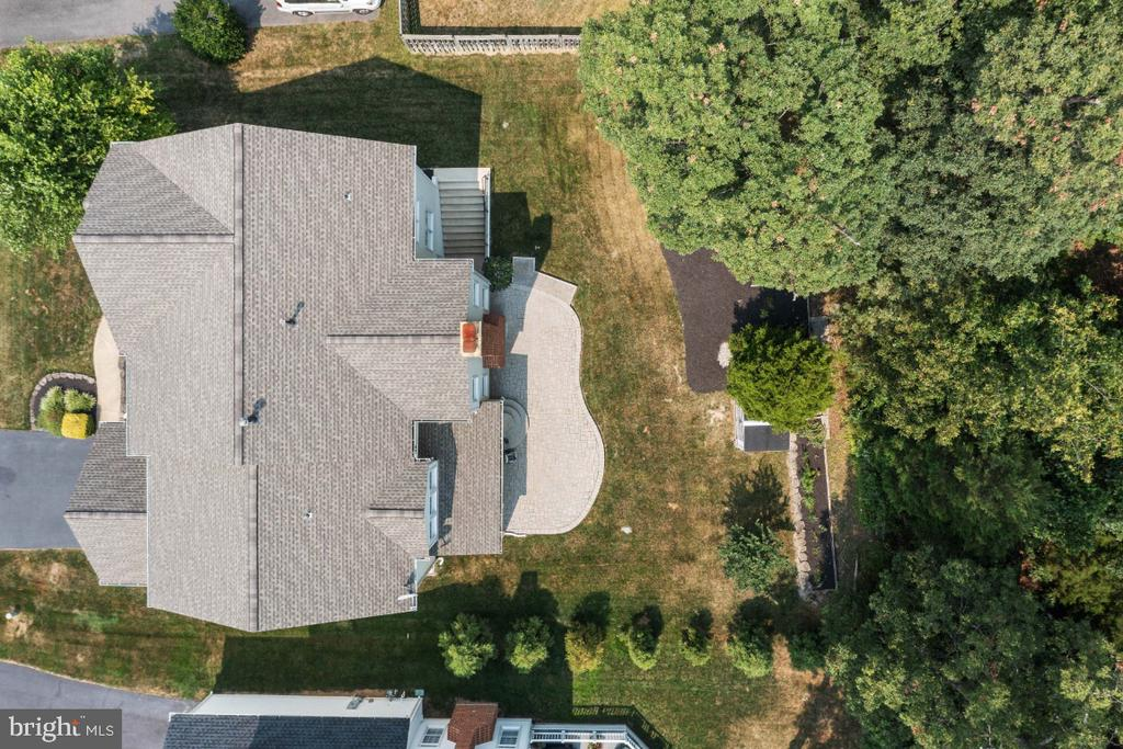 Aerial View with Wooded Backyard - 6809 CLIFTON GROVE CT, CLIFTON