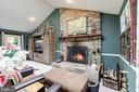 Large Living Room  w/Stone Fire Place - 8104 FLOSSIE LN, CLIFTON