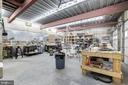 Lower Level Garage, Used as custom wood shop - 8104 FLOSSIE LN, CLIFTON