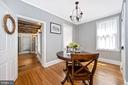 Dining room  is just steps from kitchen - 123 W 5TH ST, FREDERICK