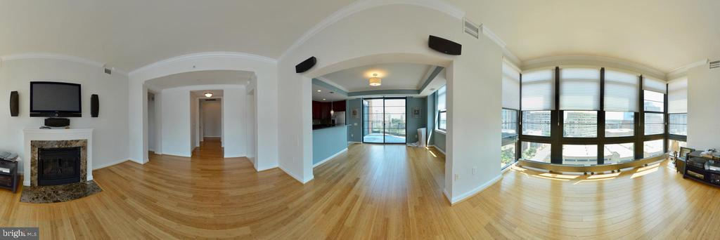 Kitchen, Living And  Dining Rooms - 1830 FOUNTAIN DR #1208, RESTON