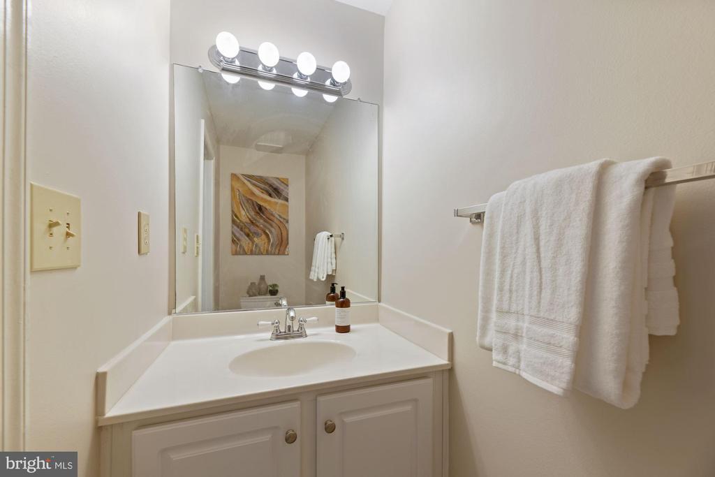 Half Bathroom on Lower Level - So Convenient! - 8009 MERRY OAKS LN, VIENNA