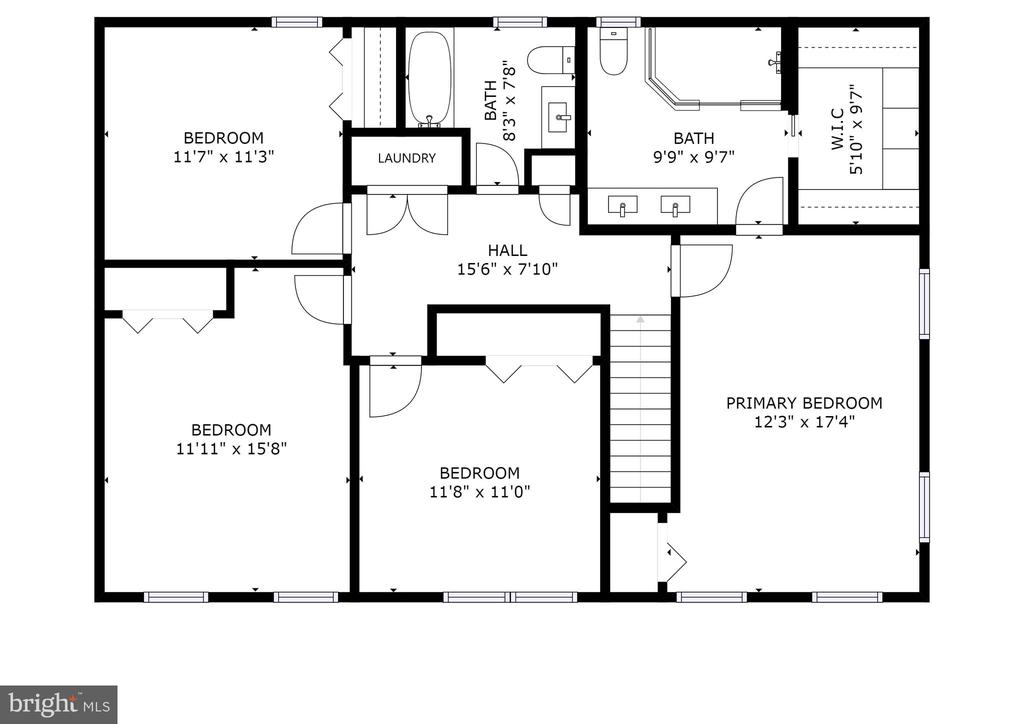 Upper Level Floor Plan - 8104 FLOSSIE LN, CLIFTON