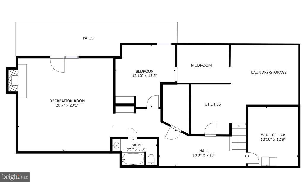 Lower Level Floor Plan - 8104 FLOSSIE LN, CLIFTON