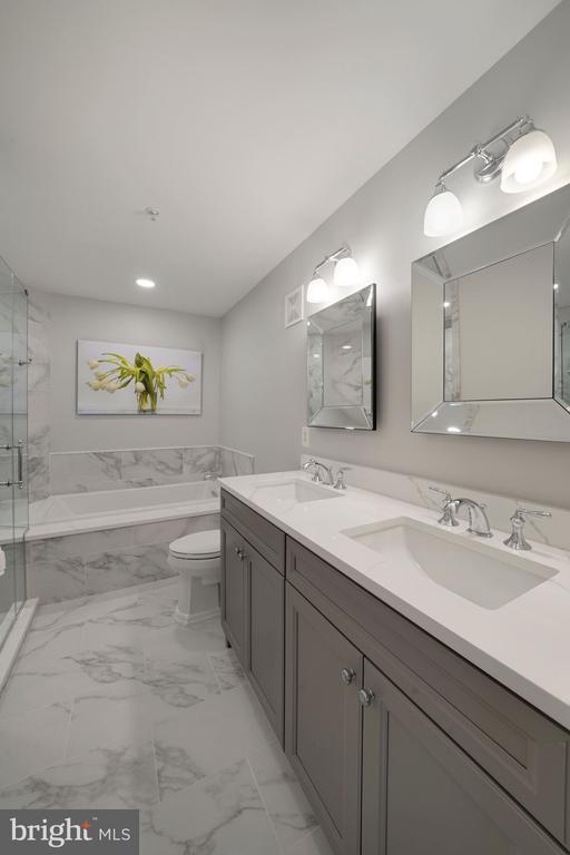 Renovated Master Bathroom - 12079 CHANCERY STATION CIR, RESTON