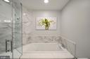 Large Square Tub with Quartz  and Marble - 12079 CHANCERY STATION CIR, RESTON