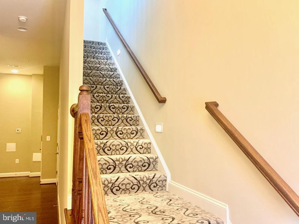 Custom stair runner and floor lighting - 19383 NEWTON PASS SQ #R06V, LEESBURG