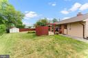 Backyard with patio - 4800 FLOWER LN, ALEXANDRIA